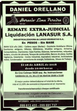 Liquidación Extrajudicial de LANASUR SA.