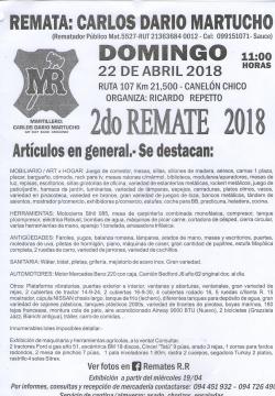 Artículos en general - 2do. Remate 2018