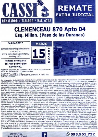 Inmueble en Clemenceau 870 - ANV