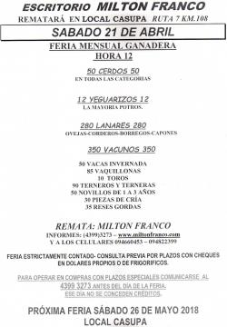 Feria mensual - Escritorio Milton Franco