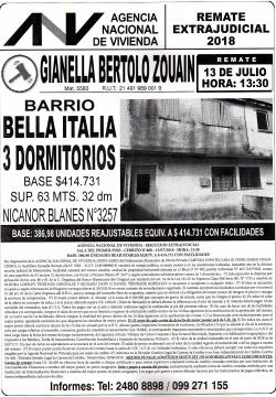 Inmueble de 3 dormitorios en Bella Italia - ANV -