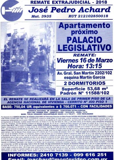 Apartamento próximo Palacio Legislativo