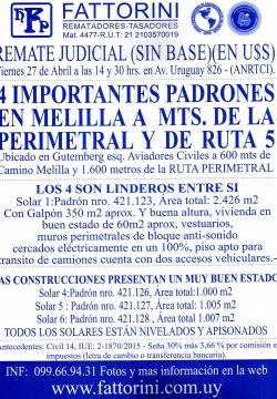 4 importantes padrones en Melilla