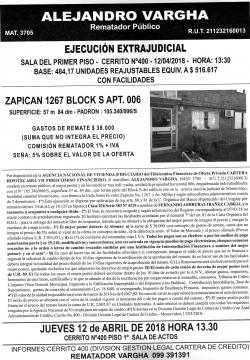 Apartamento en calle Zapican -ANV -