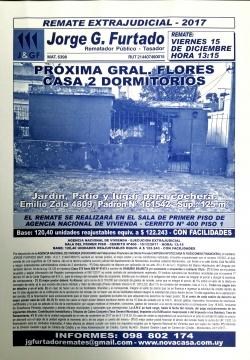 PROXIMO  GRAL. FLORES CASA DE 2 DORMITORIOS