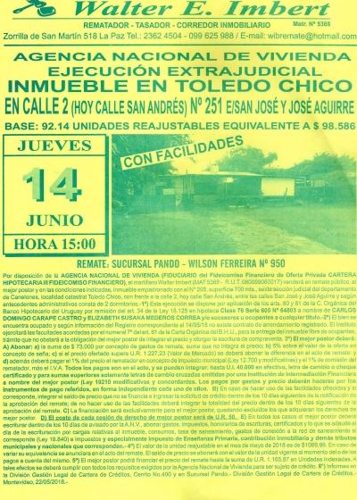 Inmueble en Toledo Chico - ANV -