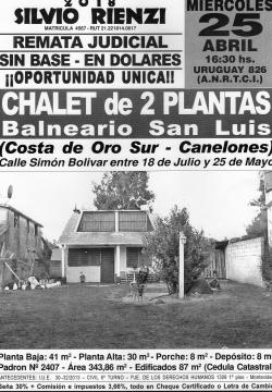 Chalet de 2 plantas Balneario San Luis - CANELONES